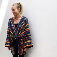 Our Goran poncho shot by Asitis concept store. #mesdemoiselles #FW16 #prints #knitted #mesdemoisellesparis
