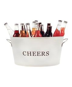 'Cheers' Country Home Galvanized Cheers Tub