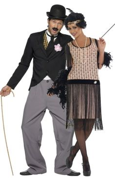 Charleston Couple Costume for Adults: Charleston Costume for Adults This costume includes trousers with a top and jacket (hat, moustache, cane and shoes not included).Joined to the grey trousers, the top covers the front of. Family Halloween Costumes, Adult Costumes, Dance Costumes, Charleston Dance, Charleston Style, Komplette Outfits, Fashion Outfits, 1920s Dress, Fancy Dress