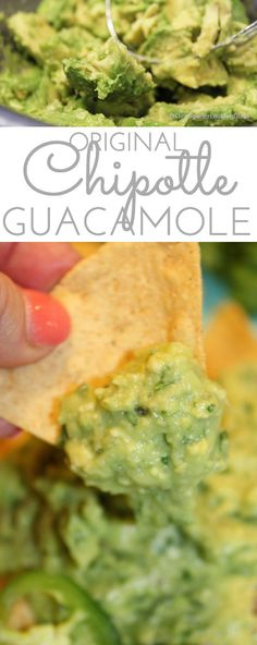 If you're a guac lover hankering for the addictive Original Chipotle Guacamole Recipe, the search is over! Creamy, mildly spicy guacamole is made with the freshest ingredients: ripe avocado, minced jalapeño and red onion, fresh squeezed lime juice and cho Avocado Toast, Ripe Avocado, Keto Avocado, Avocado Salad, Avocado Egg, Avocado Guacamole, Healthy Diet Recipes, Low Calorie Recipes, Mexican Food Recipes
