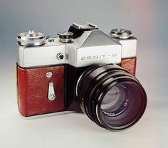 Zenit B Red Skin / Vintage 35mm Film SLR / LightBurn Restored Camera / Helios 44-2 lens / £36.99