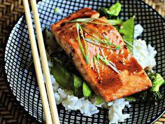 Honey-Teriyaki Glazed Salmon with Stir-Fry Veggies - Click HERE for the recipe! -