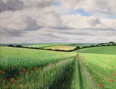 'The Poppy Track - oil on canvas
