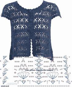 Fabulous Crochet a Little Black Crochet Dress Ideas. Georgeous Crochet a Little Black Crochet Dress Ideas. Crochet Bolero Pattern, Gilet Crochet, Crochet Jacket, Crochet Cardigan, Crochet Patterns, Crochet Vests, Knitting Patterns, Mode Crochet, Crochet Diy
