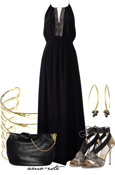 """Elegant Maxi Dress"" by amo-iste on Polyvore"