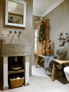 #dewemelaer #pinterieur Rustic Industrial, Toilet, Vanity, Bathroom, Sober, Bath, Dressing Tables, Washroom, Flush Toilet