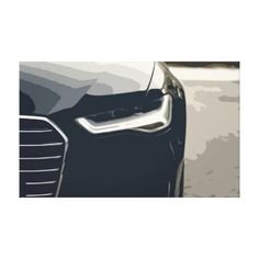 Black Modern Luxury Car Headlights Details Canvas  $94.35  by GrandGraphics  - cyo diy customize personalize unique