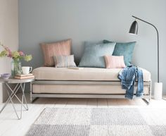 This little space-saver is our seriously cool answer to the traditional daybed: it stacks neatly for additional seating and lifts off to become a sturdy...