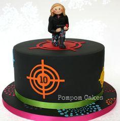 Laser tag birthday party, cake ideas