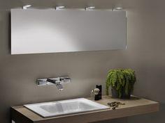 """Ein großer Spiegel über dem Waschbecken? Kein Problem! In dem Bild sehen Sie """"Zierath PINTO LED-Kristallspiegel BxH: 1400x500mm ZPINT0301140050"""""""