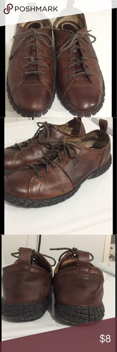 Born Men's Shoe Leather, used, good to work in and get your your Honey Do List done 🙂 please see pictures for flaws. Size 11M  with box PRICE FIRM $ BORN Shoes Oxfords & Derbys
