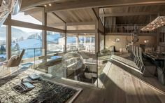 Luxury mountain retreat in the French Alps: Chalet Mont Blanc Chalet Design, House Design, Ski Chalet, Chalet Modern, Chalet Interior, Luxury Interior, 3d Home, French Alps, Best Kitchen Designs