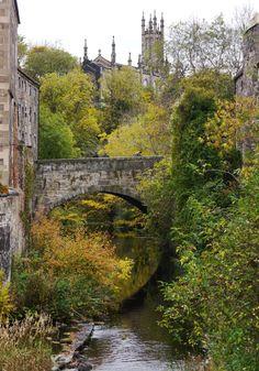Autumn in Dean Village, Edinburgh, Scotland