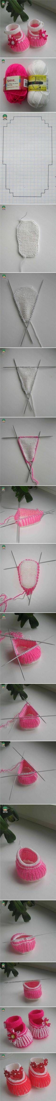 DIY Cute Knit Baby Shoes DIY Cute Knit Baby Shoes by diyforever