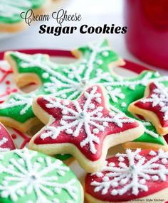 565c445f062 These Cutout Cream Cheese Sugar Cookies are a family holiday tradition at  our house. The creamy batter makes spectacular sugar cookies for the  holidays and ...
