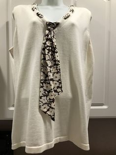 ~SUPER STYLISH~<RALPH LAUREN>100%Cotton With 100%Silk scarf, 1X Blouse  | eBay