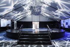 Interesting modern light play and tin foil sculpture. LOL. Todd Events - Photos - Destination Wedding
