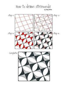 How to draw Strimonds by Emily Perkins, Certified Zentangle Teacher