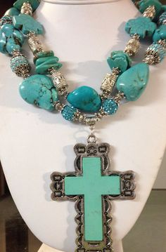 Chunky Cowgirl Western Necklace by CowgirlInspiration on Etsy, $61.00