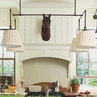 Love the wood vent hood & the horse head attached to it ~ from Southern Living 2010 Georgia Idea House Senoia Georgia, Southern Living Homes, Southern Kitchens, Vent Hood, Wood Trim, Wood Planks, Beautiful Kitchens, Dream Kitchens, House Tours