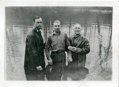 """Algernon and Jack were going to baptize themselves but were talked out of it as it was """"premature"""" Vintage Baptism, Appalachian People, Wade In The Water, West Virginia History, Carter Family, Southern Pride, Living Water, Country Music, Worship"""