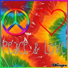 ☮ American Hippie Psychedelic ~ Peace and love, tie dye