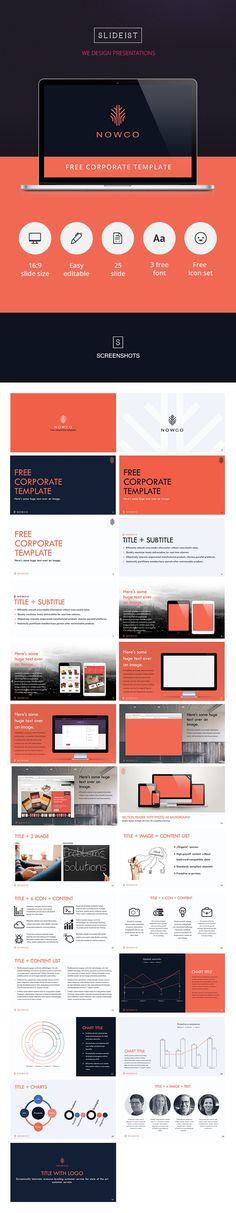NOWCO // Free PowerPoint presentation template (Tech Office Layout)