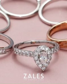 Browse our engagement rings and bridal sets to find the ring of your beloved's dreams. Shop diamond rings, simple engagement rings and more today at Zales. Dream Engagement Rings, Round Diamond Engagement Rings, Engagement Ring Cuts, Diamond Rings, Ruby Rings, Diamond Stores, Wedding Rings, Wedding Sets, Fall Wedding