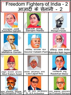 Freedom Fighters of India Gernal Knowledge, General Knowledge Facts, Knowledge Quotes, Mahatma Gandhi Photos, Freedom Fighters Of India, Gk Questions And Answers, Learn Hindi, India Travel Guide, India Facts