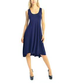 Another great find on #zulily! Navy Scoop Neck Sleeveless Dress - Women by Zac Studio #zulilyfinds - $24.99