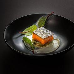 By Gary Nguyen # Ora King Salmon, Macadamia, Braised Escarole #gourmetparadise #gastronomy #chefs #chefsinstagram #chefsplating #gourmet…