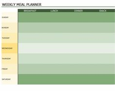 Weekly Meal Planner Template Is Helpful For Normal People Who Want To Plan Their Menu And Also Those Patients Are Recommended A