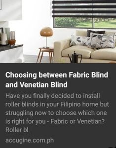 Have you finally decided to install roller blinds in your Filipino home but struggling now to choose which one is right for you - Fabric or Venetian? Window Blinds, Blinds For Windows, Fabric Blinds, Roller Blinds, Venetian, Philippines, Home, Blinds, Shades For Windows