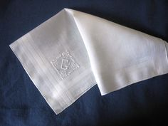 Handkerchief G Initial Madeira Monogram Men's by Emmetswyfe