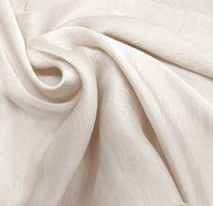Ivory-B Silky Satin Chiffon Fabric - Reversible