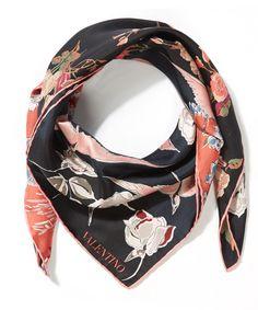 Valentino Garden Party Silk Scarf   Accessories   Liberty.co.uk
