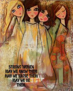 Strong WOMEN 5x7 art card by Southendgirlart on Etsy, $6.00