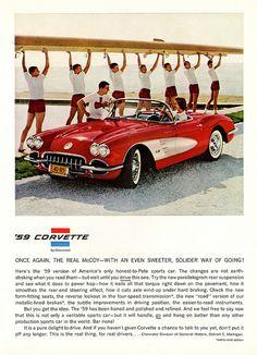 1959 Chevrolet Corvette advertisement