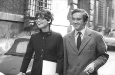 Audrey Hepburn photographed with her husband Dr. Andrea Dotti by Elio Sorci in Rome (Italy), in February 1969.