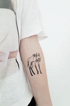 Tatuagem de Lobo Guará. Maned wolf tattoo. #tattoo #manedwolf #loboguará