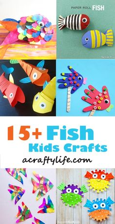 fish craft - ocean kid craft - crafts for kids- kid crafts - acraftylife.com #preschool
