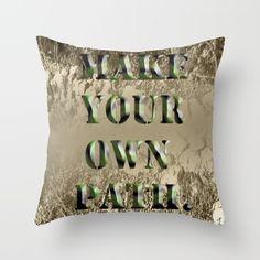 Huggable Make Your Own Path throw pillow