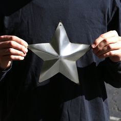 Corrugated Metal Star Christmas Holiday Home Decor Wall Art Custom... ($15) ❤ liked on Polyvore featuring home, home decor, wall art, dark olive, home & living, home décor, metal wall art, star wall art, metal home decor and metal star wall art