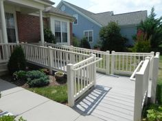 Nice ramp that blends in with the home. Ramps don't have to be an eyesore. Make it beautiful!!