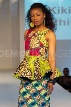 Kiki clothing Africa fashion weeek London 2012 African print #pattern