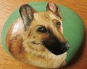Items similar to Painted Pebble Pet Portrait Commission - Large on Etsy