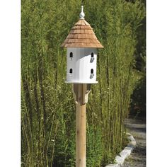 Lazy Hill Bird House by Good Directions Walpole Outdoors, Cedar Posts, Cedar Roof, White Flower Farm, Birdhouse Designs, Birdhouse Ideas, Bird House Kits, Copper Roof, House On A Hill