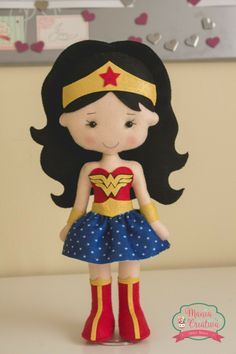 Pin on Beauty Pin on Beauty Felt Crafts Patterns, Doll Patterns, Bee Crafts, Diy And Crafts, Princess Crafts, Wonder Woman Party, Lol Dolls, Felt Diy, Diy Doll