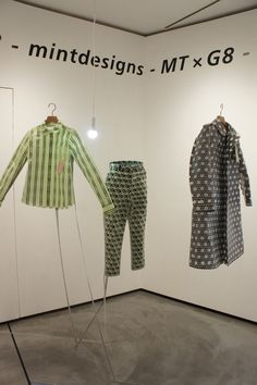 MintDesign X MT .... I like. Paper Dresses by mintdesigns and mt in Ginza, Tokyo.  The clothes designed by mintdesigns use tracing paper and masking tape made of washi (Japanese paper). Seven designs making the most of the translucency of paper are adorned with patterns of dolls, zigzags and more.