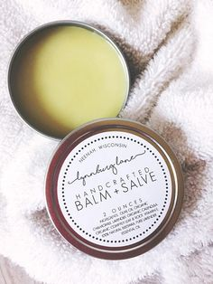 Natural Baby Balm made with 100% natural + organic ingredients. My babies have all had sensitive skin (just like me!), and I wanted to create a soothing and healing salve for treating skin irritations and rashes, cradle cap with infants, and even diaper rashes. This balm is ultra gentle